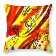 Hot Moving Lines And Dots Abstract Throw Pillow