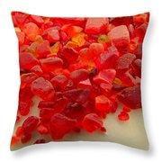 Hot Orange Beach Glass Throw Pillow