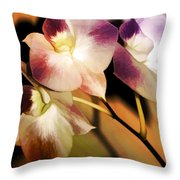 Hot Orchid Nights Throw Pillow