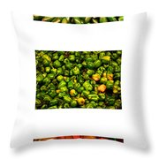 Hot Pepper Collage Throw Pillow
