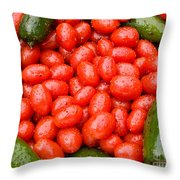 Hot Peppers And Cherry Tomatoes Throw Pillow by James BO  Insogna