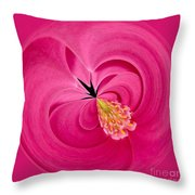 Hot Pink And Round Throw Pillow by Anne Gilbert