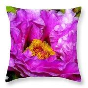 Hot-pink Flower Throw Pillow
