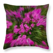 Hot Pink Flower Zoom Throw Pillow
