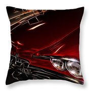 Hot Red Car  Throw Pillow