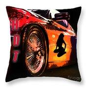 Hot Red Car Throw Pillow