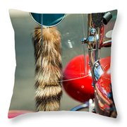Hot Rod Coon's Tail Throw Pillow