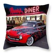 Hot Rod Diner Classic  Throw Pillow