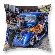 Hot Rod Car Throw Pillow