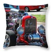 Hot Rod Engine Throw Pillow