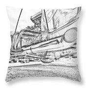 Hot Rod Exhausting Throw Pillow