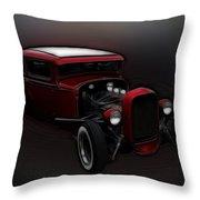 Hot Rod Ford Art Throw Pillow