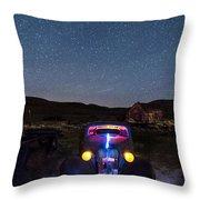 Hot Rod Nights Throw Pillow