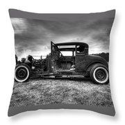 Hot Rod Revisited Throw Pillow