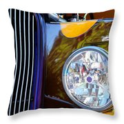 Hot Rod Show Car Light Throw Pillow