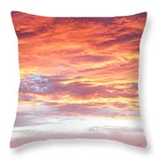 Hot Sky Throw Pillow