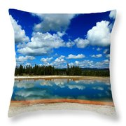 Hot Springs And Clouds Throw Pillow