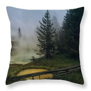 Hot Springs At West Thumb Throw Pillow