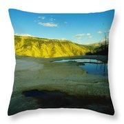 Hot Springs Yellowstone Throw Pillow