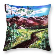 Hot Summer Day Throw Pillow
