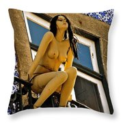 Hot Summer Day In Portugal Throw Pillow