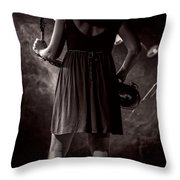 Hot Summer Night Throw Pillow by Bob Orsillo