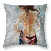 Hot Summer Throw Pillow