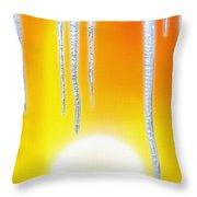 Hot Summer Sun W/ Icicles Throw Pillow