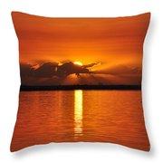 Hot Summer Sunrise  Throw Pillow