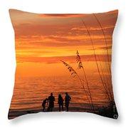 Hot Sunset Throw Pillow