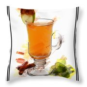 Hot Toddy Cocktail Marker Sketch Throw Pillow