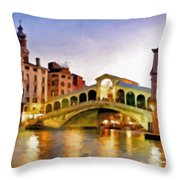 Hot Venetian Nights Throw Pillow
