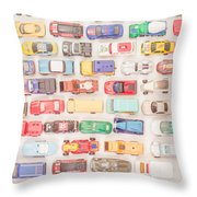 Hot Wheels Square Format Throw Pillow