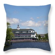 Hotel At Lake Winnipesaukee Throw Pillow