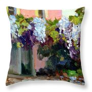 Hotel Baudy Wisteria Throw Pillow