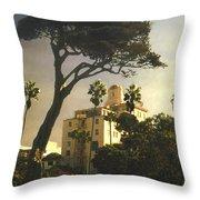 Hotel California- La Jolla Throw Pillow by Steve Karol