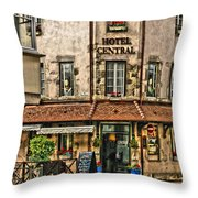Hotel Central In Beaune France Throw Pillow