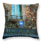Hotel De La Cite Throw Pillow by France  Art