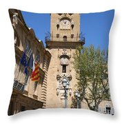 Hotel De Ville - Aix En Provence Throw Pillow