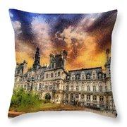 Sunset At The Hotel De Ville Throw Pillow