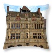 Hotel De Ville - Paray Le Monial Throw Pillow