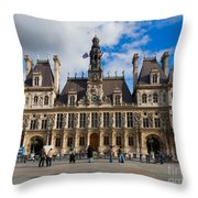 Hotel De Ville The Paris City Hall Throw Pillow