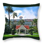 Hotel Del Courtyard Throw Pillow