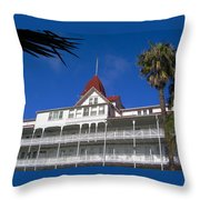 Hotel Del Courtyard View Throw Pillow