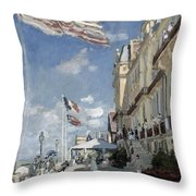 Hotel Des Roches Noires - Trouville Throw Pillow