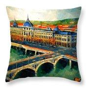 Hotel Dieu De Lyon II Throw Pillow