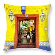 Hotel Estancia - Ajijic - Mexico Throw Pillow
