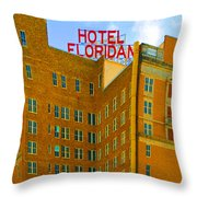 Hotel Floridan Throw Pillow