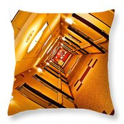 Hotel Hallway Throw Pillow