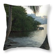 Hotel Molokai Beach Throw Pillow